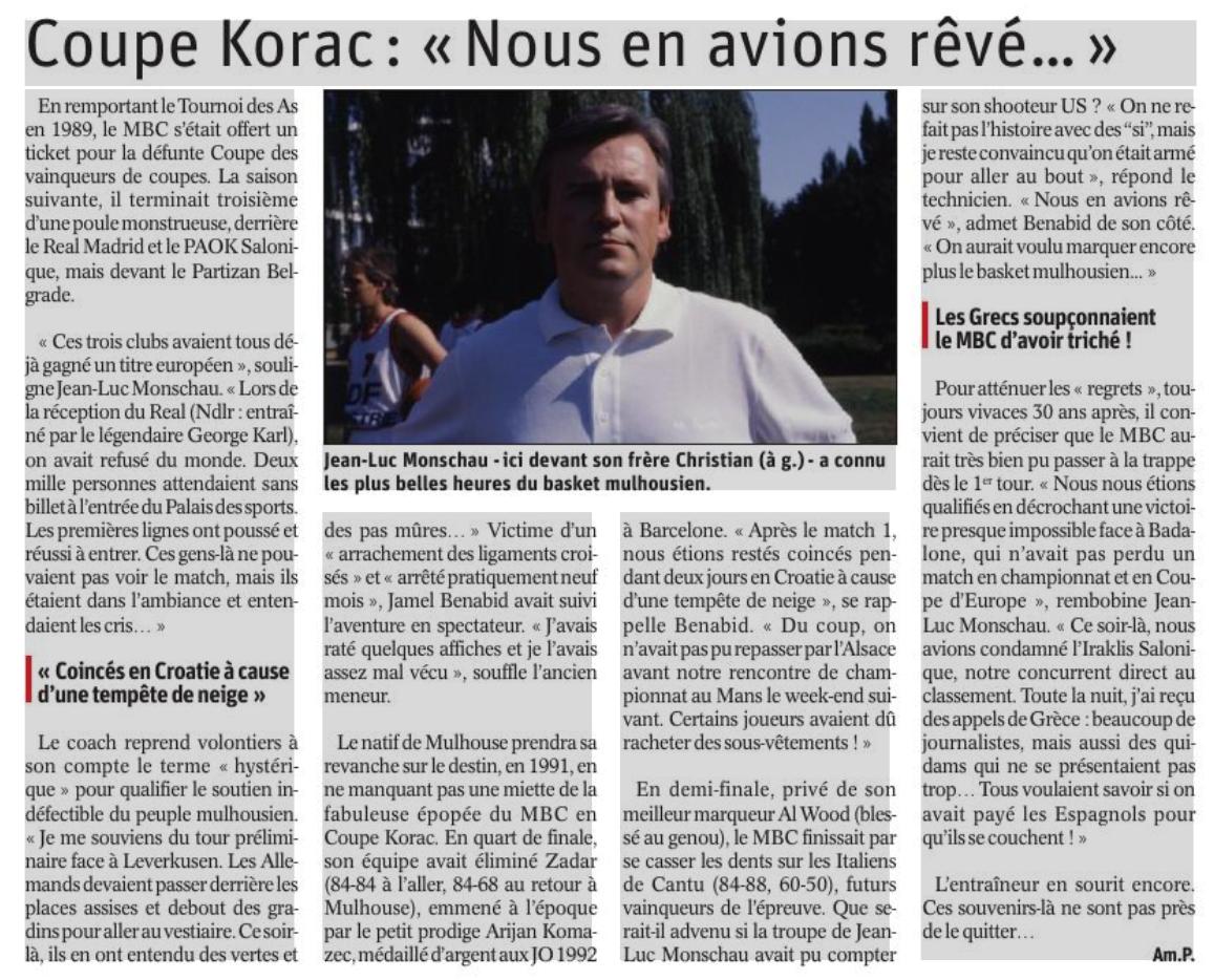 Saison 1989/90 - N1A (Pro A) Korac